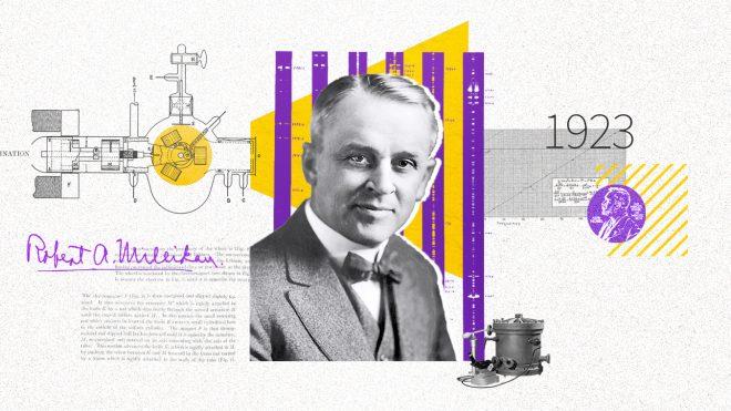 1923년 밀리컨이 광전효과로 노벨상을 탔을 때